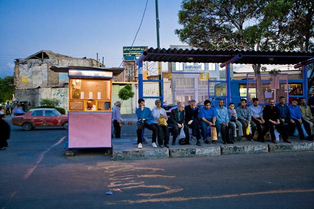 Bus stop, Tabriz by James Longley