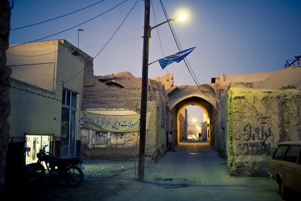 Evening street, Yazd by James Longley