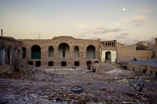 Demolished building, Yazd by James Longley
