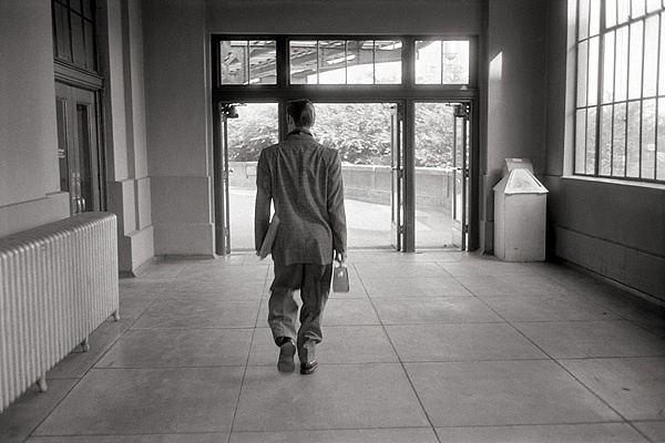Leaving the Train Station by Alfred Wertheimer