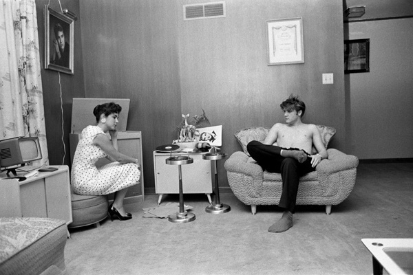 Elvis and Barbara Hearn by Alfred Wertheimer