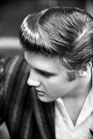 Elvis Portrait Topview by Alfred Wertheimer