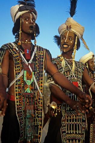 Two Wodaabe Charm Dancers by Carol Beckwith and Angela Fisher