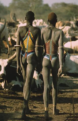 Dinka Herders in Beaded Corsets, South Sudan by Carol Beckwith and Angela Fisher