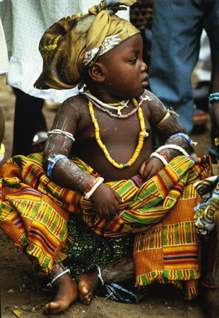 Small Krobo Girl, Sitting by Carol Beckwith and Angela Fisher