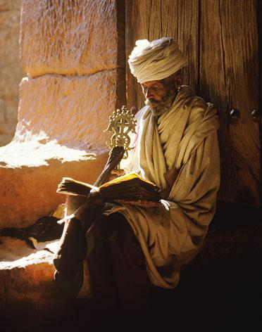 Amhara Priest Reading Kidan by Carol Beckwith and Angela Fisher