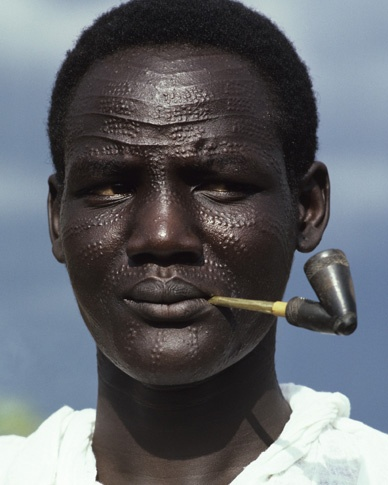 Nuer Man by Carol Beckwith and Angela Fisher