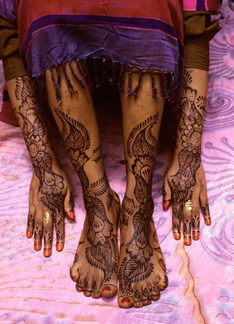 Swahili Bride's Painted Arms and Legs, Lamu Island. Kenya by Carol Beckwith and Angela Fisher