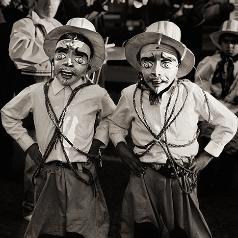 Boys with Masks, Cuzco, Peru, 2006 by Dana Gluckstein