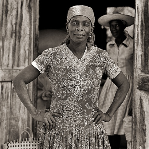Woman in Granary, Haiti, 1984 by Dana Gluckstein