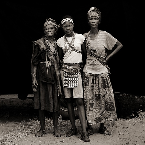 Three Generations of San Women, Xai Xai, Botswana, 2009 by Dana Gluckstein