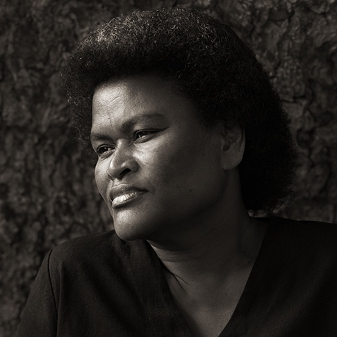 Methodist Preacher's Wife with Traditional Haircut, Fiji, 2008 by Dana Gluckstein