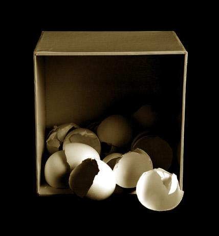 Egg Shells in Box by T.J. Dixon and James Nelson