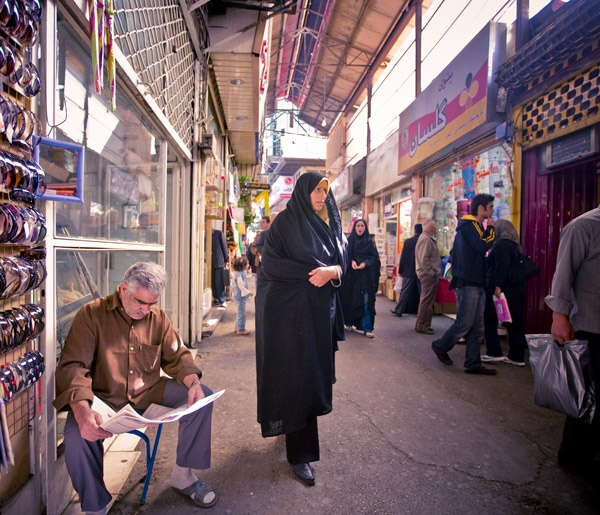 Man and Woman, Tehran by James Longley