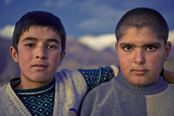 Two seventh graders, Alamut Valley by James Longley