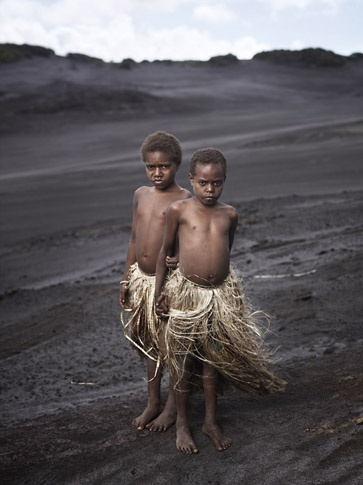 Kastom Yakel Village Girls in Ash Plains by Joey L.