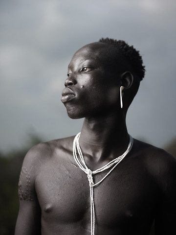 Portrait of Mursi Man by Joey L.