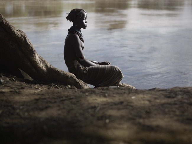Daasanach Girl and Omo River by Joey L.