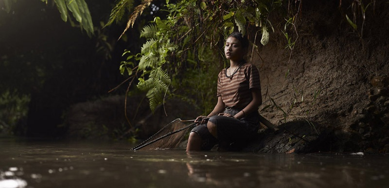 Portrait of Siobak Icit Fishing by Joey L.