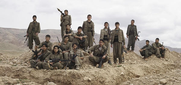 Kurdistan Worker's Party (PKK) Guerrillas Pose Near Makhmour Trench Position by Joey L.
