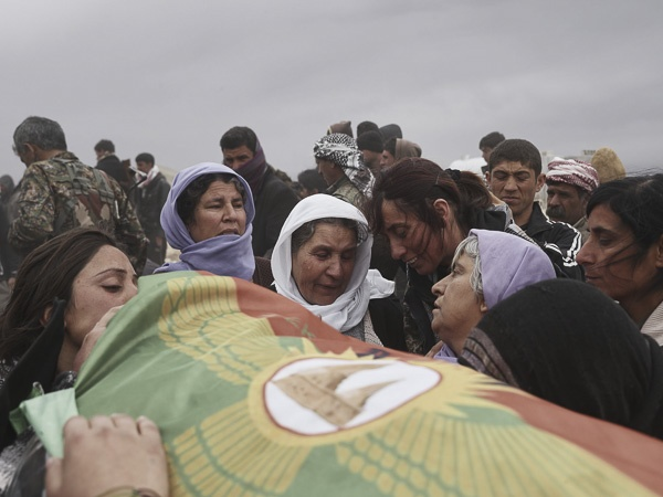 "Funeral of Shingal Resistance Unit Fighter, ""Manur"" III by Joey L."