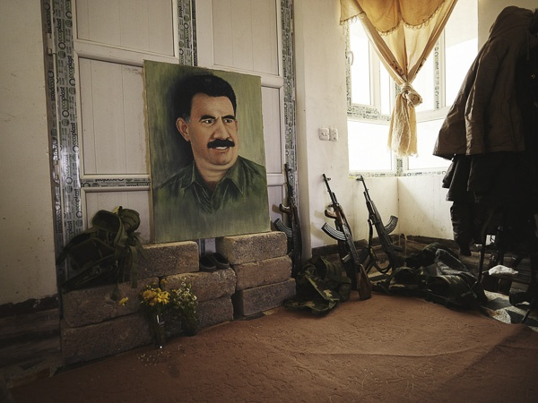 Painted Portrait of Abdullah Öcalan by Joey L.