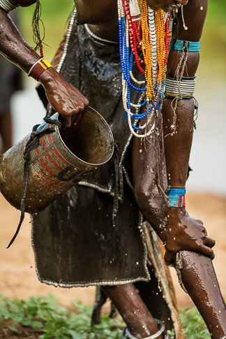 Bathing, Arbore Tribe #3 by John Rowe