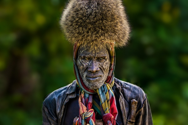 Bush Meat Hunter, Suri Tribe by John Rowe