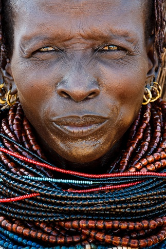 Portrait of a Nyangatom Woman #2 by John Rowe