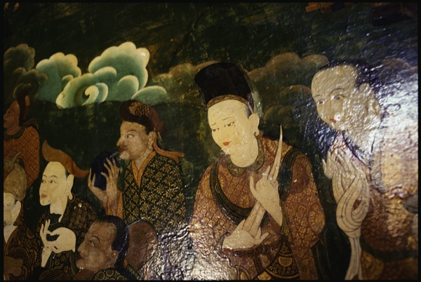 Old Mural at Samye Monastery by Marissa Roth