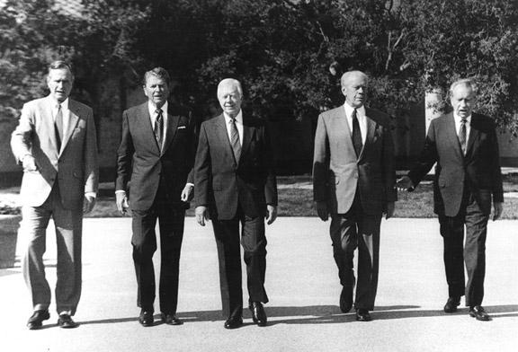 Five Presidents, 1991 by The New York Times Photo Archives