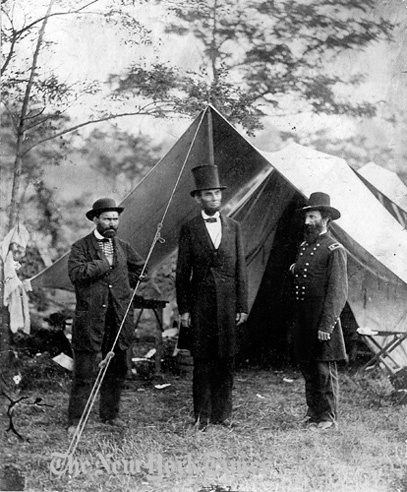 President Lincoln at Antietam - 1862 by The New York Times Photo Archives