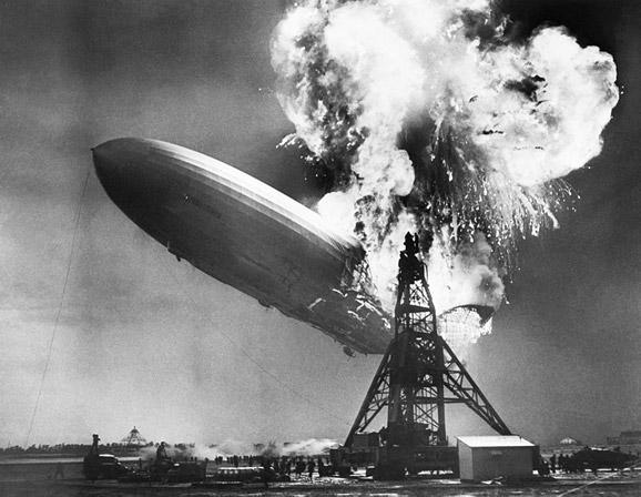 Hindenburg Explodes in Lakehurst, NJ, 1937 by The New York Times Photo Archives