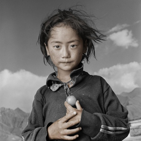 Yama, 8, Lhasa, Tibet by Phil Borges