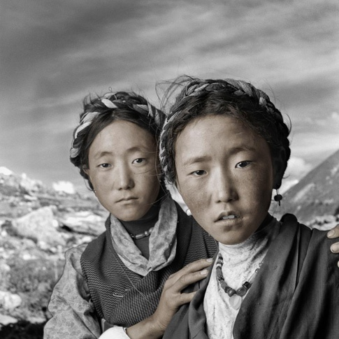 Shelo 20 & Benba 17, Nyalam, Tibet by Phil Borges