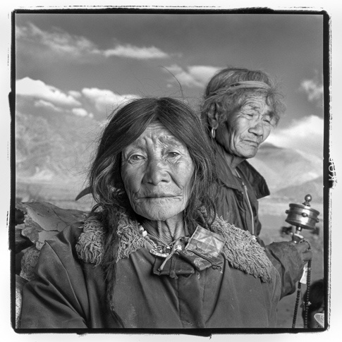 Botok 77 & Tsangpa 78, Settlement Camp #1, Ladakh by Phil Borges