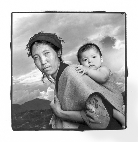 Kunsang 29 & Dechen 6 mos, Jawlakhel, Nepal by Phil Borges