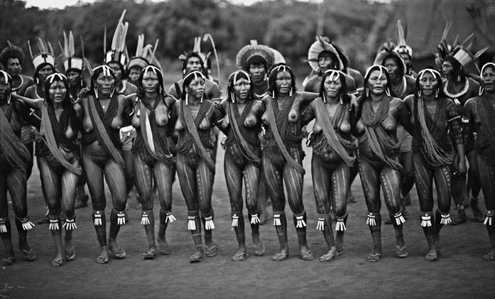 Kayapo Dance by Thomas L. Kelly