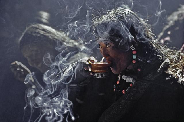 Tibetan Tea Drinker by Thomas L. Kelly
