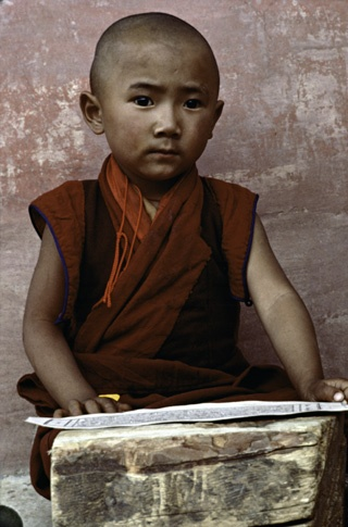 Young Monk - Jhokhang, Lhasa by Thomas L. Kelly