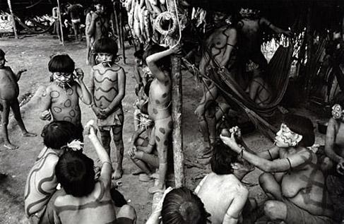 Preparing for an Afternoon Ritual Dance, Venezuela, 1997 by Valdir Cruz