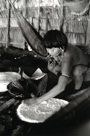 Woman preparing Bread, Brazil, 1995 by Valdir Cruz