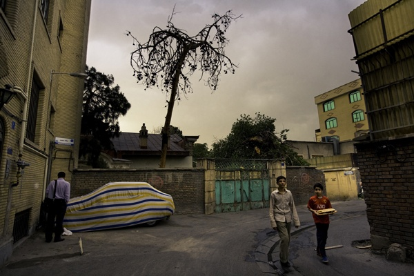 Two boys, Tehran by James Longley