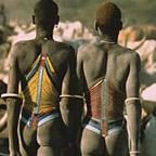 Dinka Herders with Cattle