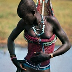 Dinka Woman in Corset, South Sudan