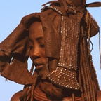 Himba woman with Ekori headdress