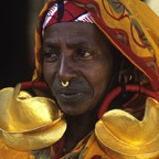 Fulani Woman with Gold Earrings