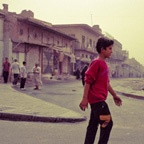 Boy walking, Baghdad