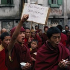 Tibetan Monks Demonstrating Against Chinese Rule