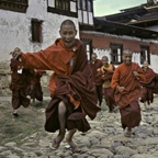Young Monks at Play, Gangtek Monastery